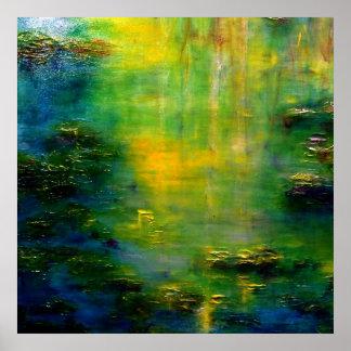 Arte del impresionismo de Monet de la charca del l Póster