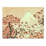 Arte del japonés de Hokusai el monte Fuji Postales