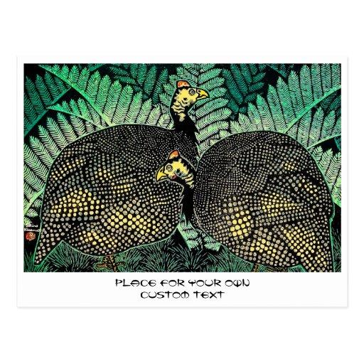 Arte del japonés de la hoja del pájaro del shiro d tarjeta postal