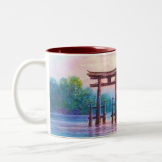 Arte del japonés de Satta Miyajima Torii y de los Tazas De Café