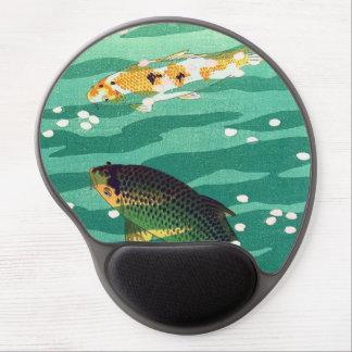 Arte del japonés del estanque de peces de Shiro Ka Alfombrilla De Raton Con Gel