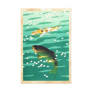 Arte del japonés del estanque de peces de Shiro Ka Lona Envuelta Para Galerías