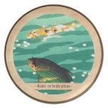 Arte del japonés del estanque de peces de Shiro Ka Plato