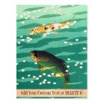 Arte del japonés del estanque de peces de Shiro Ka Postal
