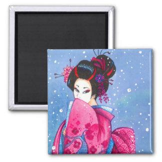Arte del japonés del geisha de Maiko del imán de l