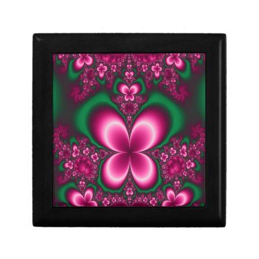 arte del jardín de la mariposa joyero cuadrado pequeño