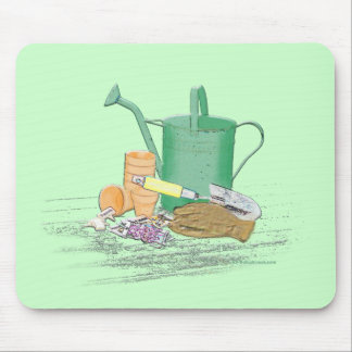 Arte del jardín de los utensilios de jardinería alfombrilla de ratón