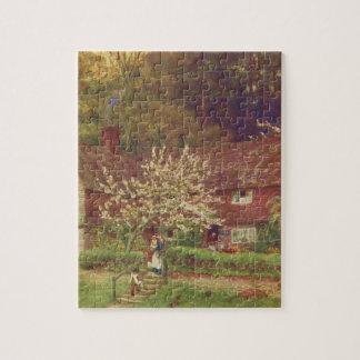 Arte del jardín del vintage - Allingham, Helen Puzzles