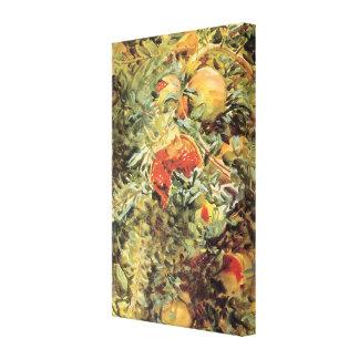 Arte del jardín del vintage, granadas II por Impresiones En Lona Estiradas