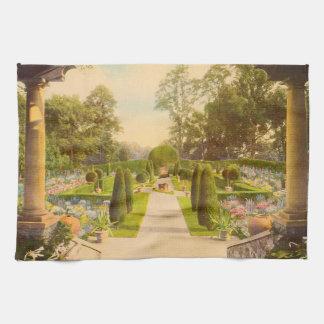 Arte del jardín del vintage - jardines hermosos de toallas de mano