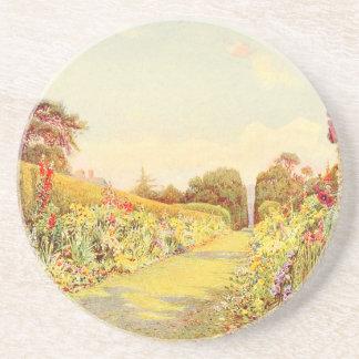 Arte del jardín del vintage - Rowe Ernesto A Posavasos Diseño