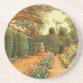 Arte del jardín del vintage - Rowe Ernesto A Posavasos Cerveza