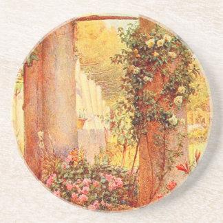 Arte del jardín del vintage - Rowe Ernesto A Posavasos Personalizados