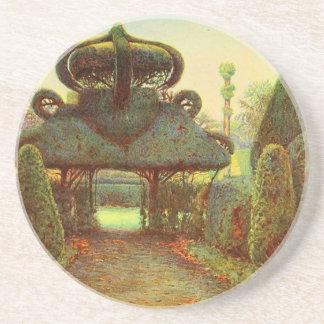 Arte del jardín del vintage - Rowe Ernesto A Posavasos Manualidades