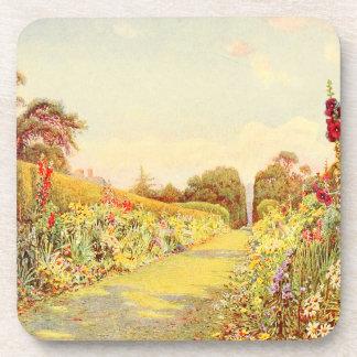 Arte del jardín del vintage - Rowe Ernesto A Posavasos De Bebidas