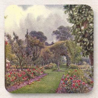Arte del jardín del vintage - Rowe, Ernesto A. Posavasos