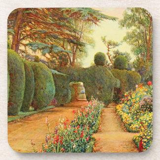 Arte del jardín del vintage - Rowe, Ernesto A. Posavasos De Bebida