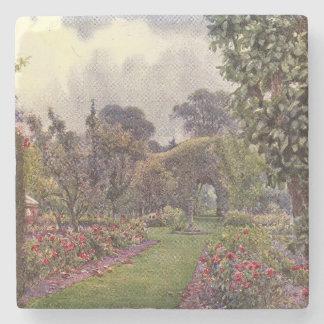 Arte del jardín del vintage - Rowe Ernesto A Posavasos De Piedra
