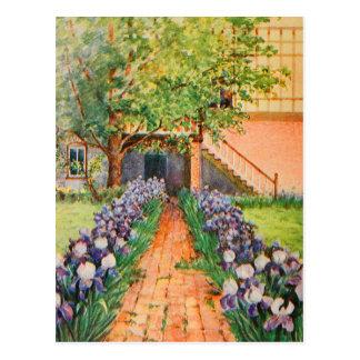 Arte del jardín del vintage - Steele, delegado de Postal