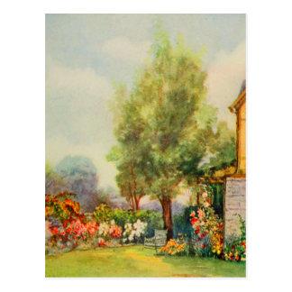 Arte del jardín del vintage - Steele, delegado de Tarjetas Postales