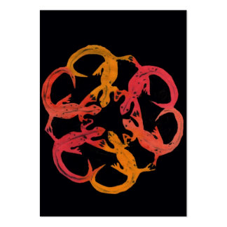 arte del lagarto plantilla de tarjeta personal