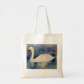 Arte del lago swan bolsa tela barata