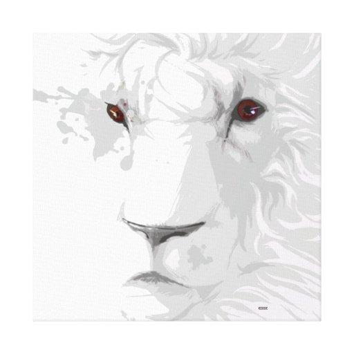 Arte del león impresión de lienzo