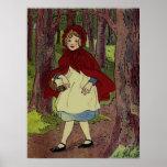 Arte del libro del Caperucita Rojo del vintage Poster