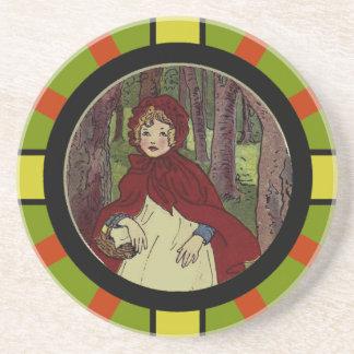 Arte del libro del Caperucita Rojo del vintage Posavasos Personalizados