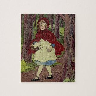 Arte del libro del Caperucita Rojo del vintage Rompecabeza Con Fotos