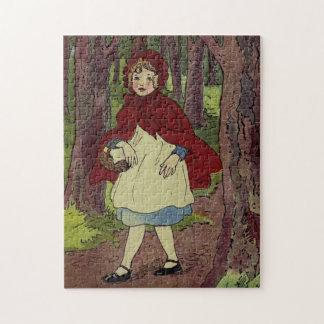 Arte del libro del Caperucita Rojo del vintage Puzzle
