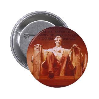 """Arte del Lincoln memorial de la """"impresión durader Pin Redondo 5 Cm"""