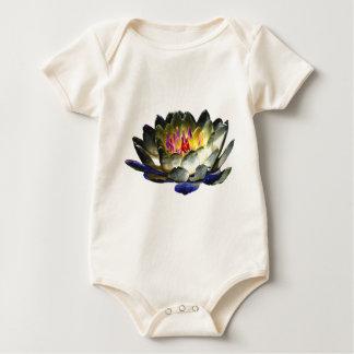 Arte del lirio de la niña mameluco de bebé