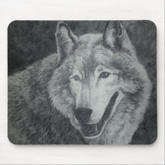 Arte del lobo alfombrilla de ratón