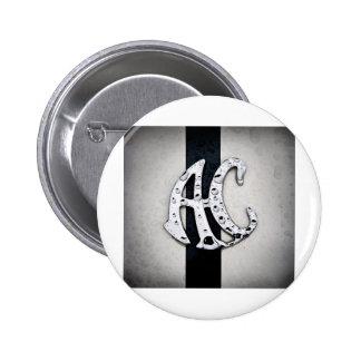 Arte del logotipo de la insignia de la CA Pin Redondo 5 Cm