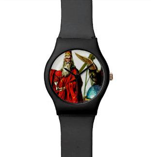 Arte del mago del búho de MERLIN del mago del vint Reloj De Mano