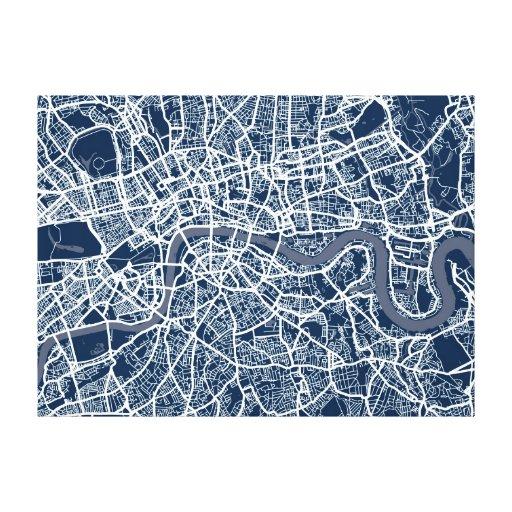 Arte del mapa de calle de Londres Inglaterra
