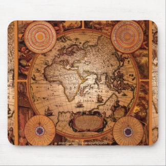 Arte del mapa de Viejo Mundo - 1481 Alfombrilla De Ratón