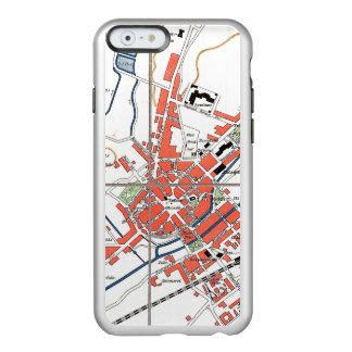 Arte del mapa del caso funda para iPhone 6 plus incipio feather shine