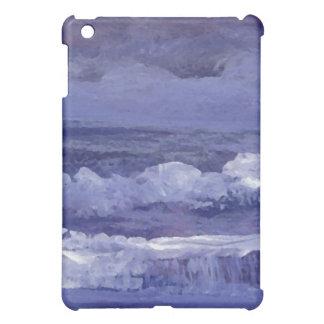 Arte del mar nublado de la noche - océano de Crick