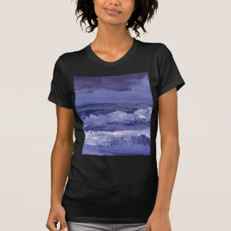 Arte del mar nublado de la noche - océano de Crick Camisetas