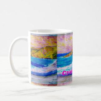 Arte del mar que se estrella taza de café