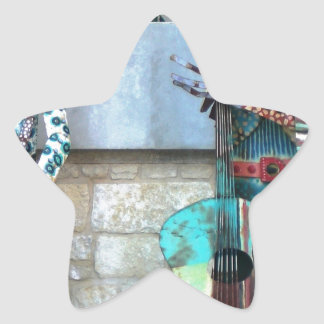 Arte del Mariachi Pegatina En Forma De Estrella