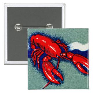Arte del Matchbook de las langostas de la langosta Chapa Cuadrada 5 Cm