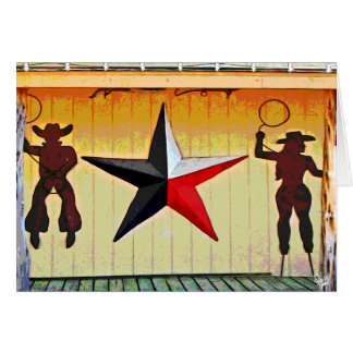 Arte del metal en Senor Buddy's en 290, Austin, TX Tarjeta Pequeña