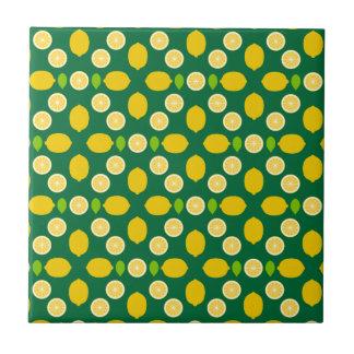 Arte del modelo de los limones (exclusivo) azulejo cuadrado pequeño
