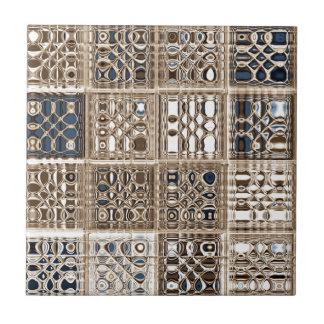 Arte del modelo de mosaico de la sari de Brown azu Azulejo Cuadrado Pequeño