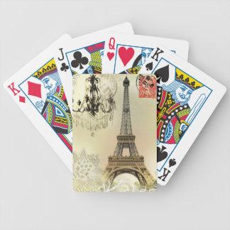 arte del modelo del cordón de la torre Eiffel de Baraja