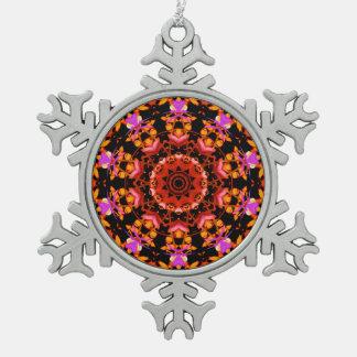 Arte del modelo del lirio tigrado - copo de nieve adorno de peltre en forma de copo de nieve