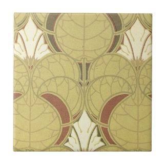 arte del modelo del nouveau del arte del vintage azulejo cuadrado pequeño